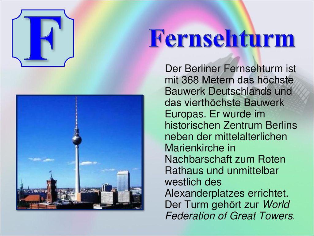 F Fernsehturm.