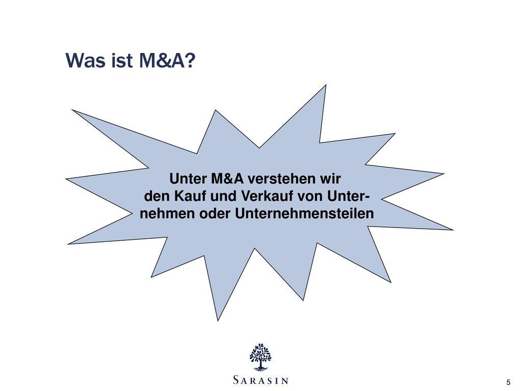 Was ist M&A.