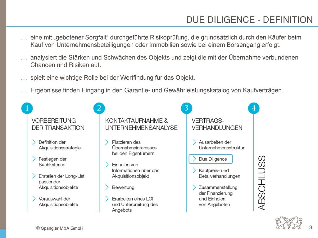 DUE DILIGENCE - DEFINITION