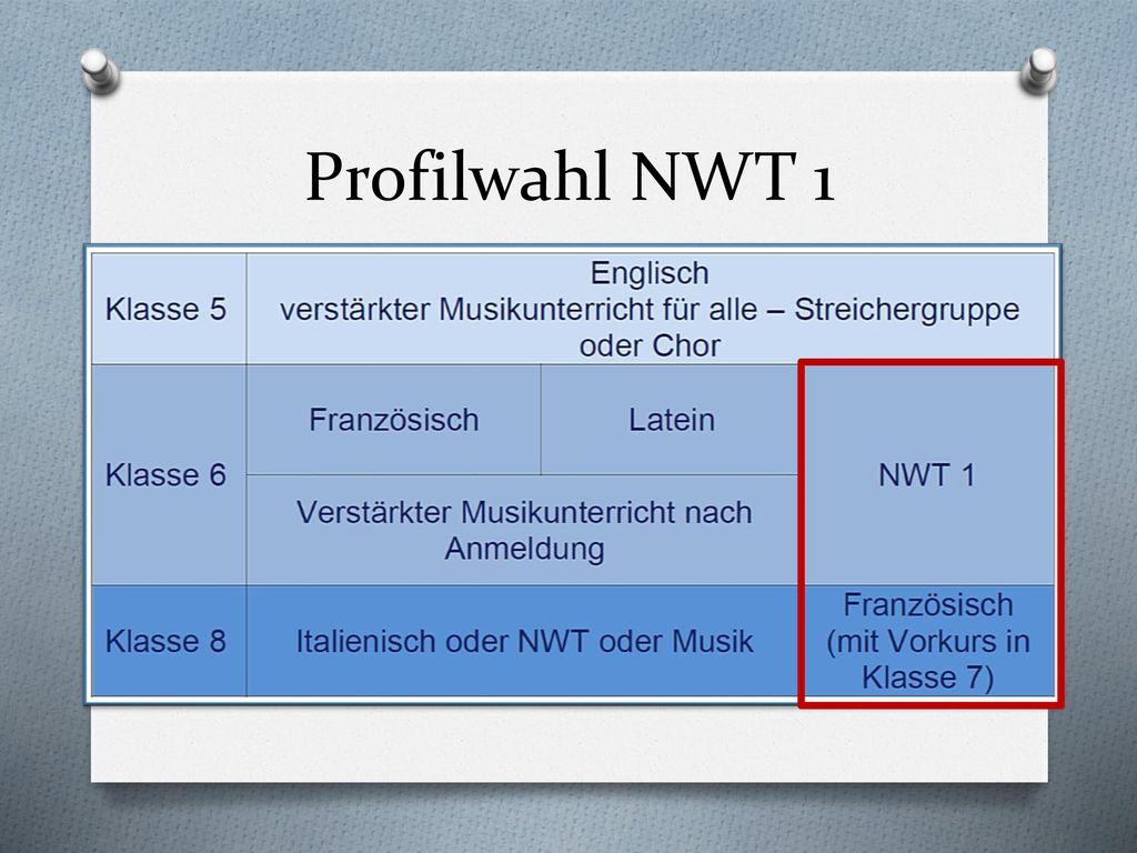 Profilwahl NWT 1