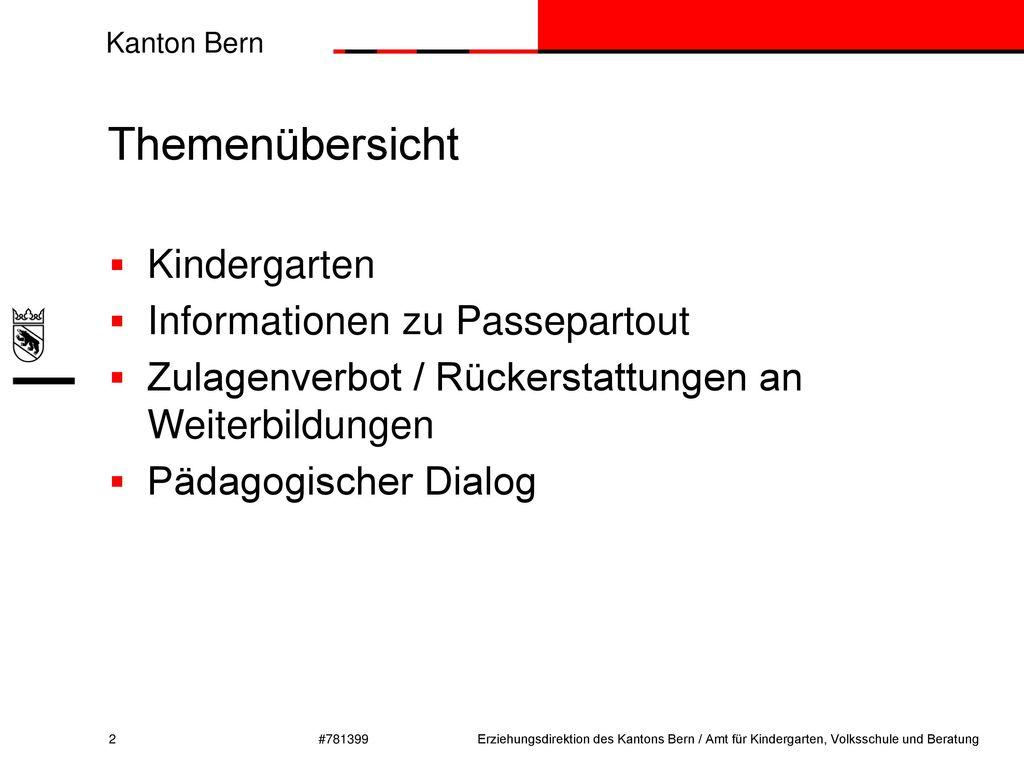 Themenübersicht Kindergarten Informationen zu Passepartout