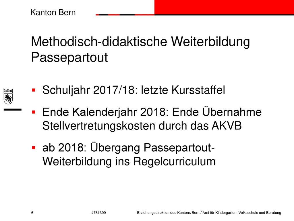 Methodisch-didaktische Weiterbildung Passepartout