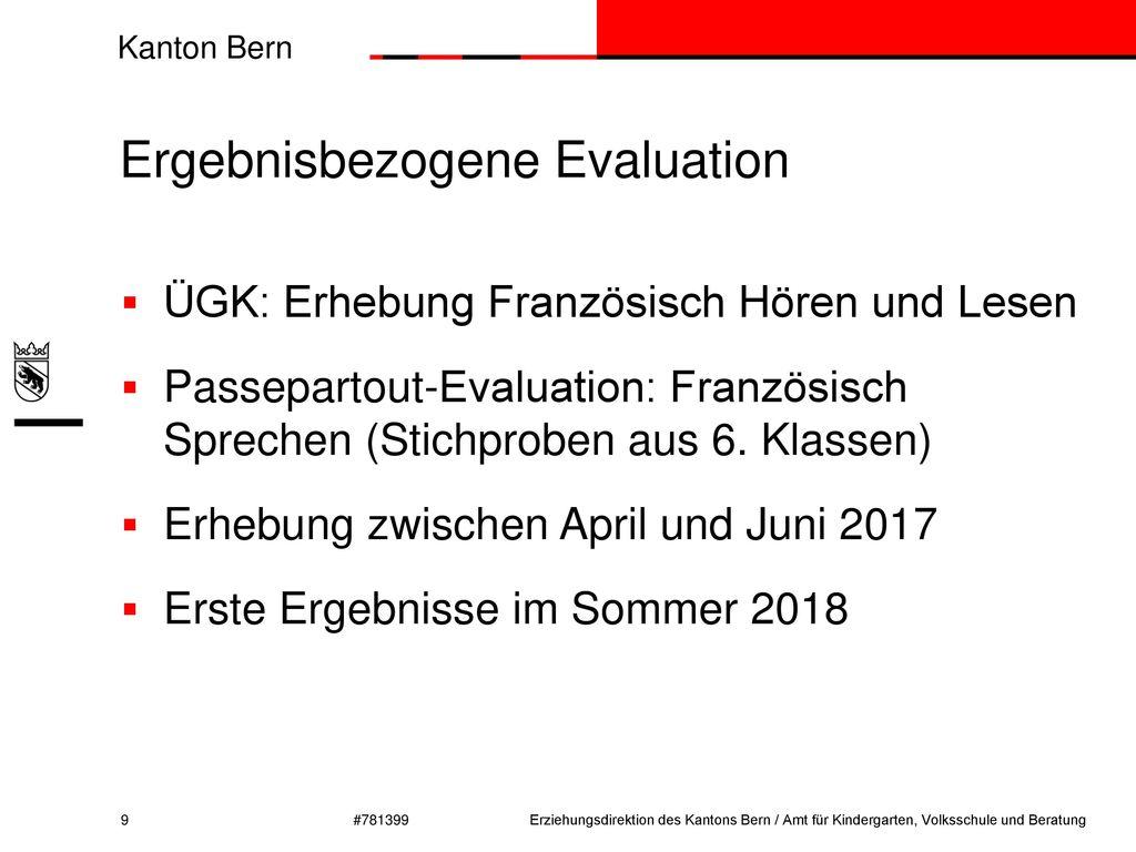 Ergebnisbezogene Evaluation