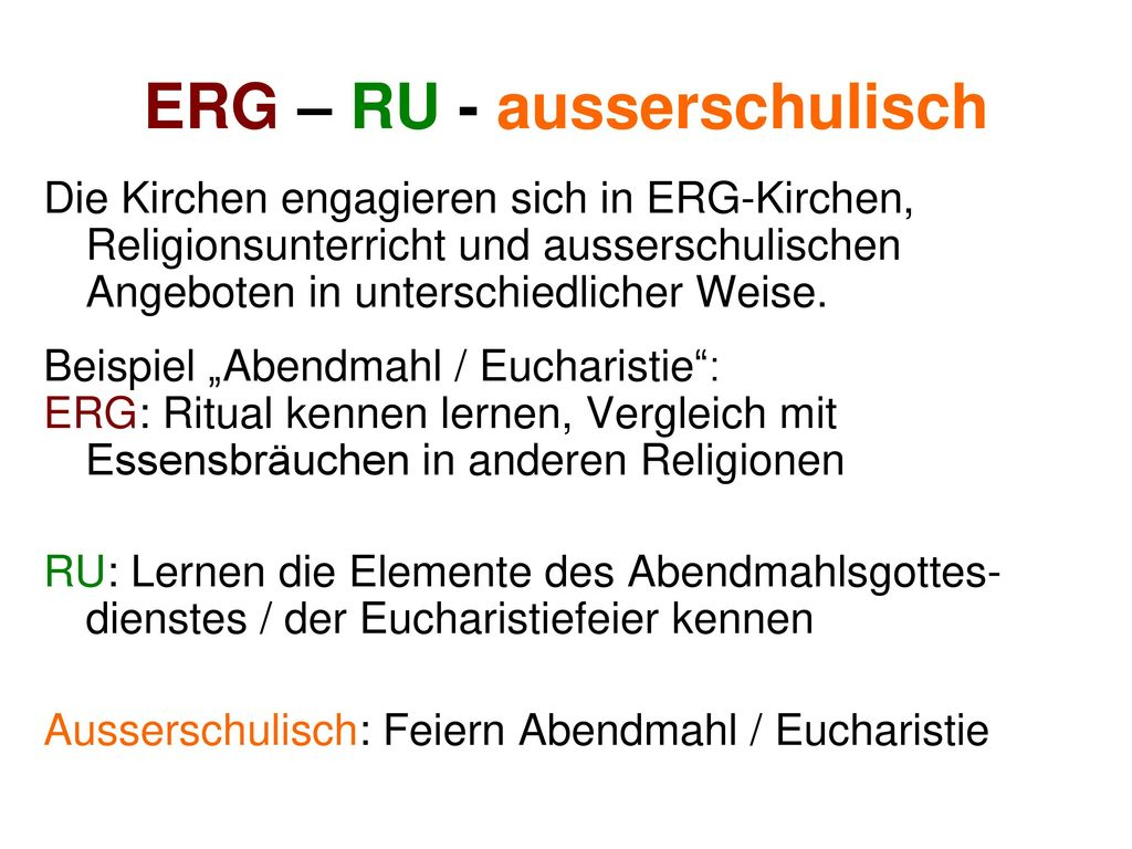 ERG – RU - ausserschulisch