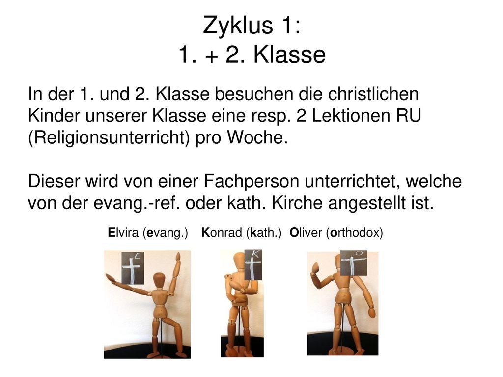 Zyklus 1: 1. + 2. Klasse