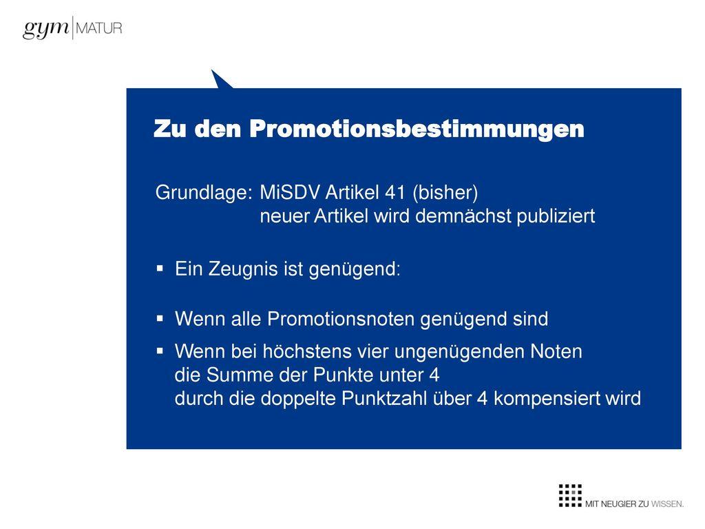 Zu den Promotionsbestimmungen