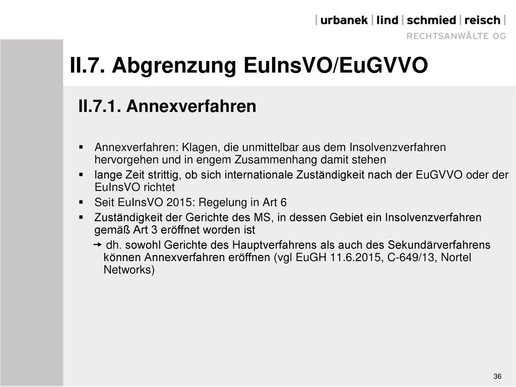 II.7. Abgrenzung EuInsVO/EuGVVO