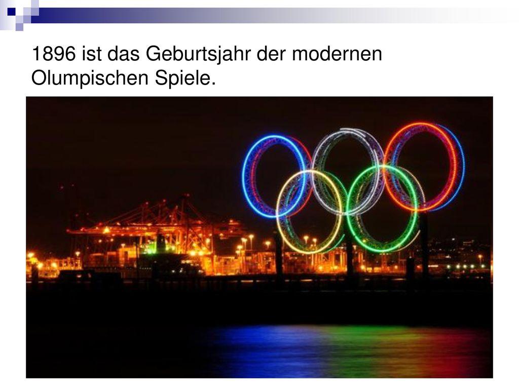 1896 ist das Geburtsjahr der modernen Olumpischen Spiele.