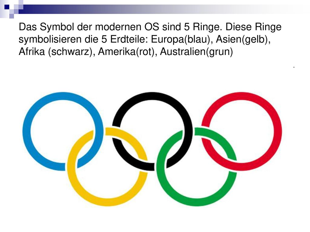 Das Symbol der modernen OS sind 5 Ringe