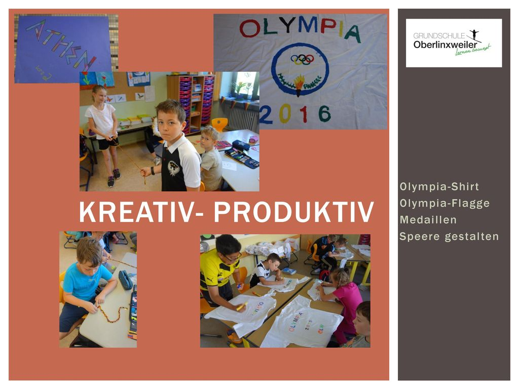 Kreativ- Produktiv Olympia-Shirt Olympia-Flagge Medaillen