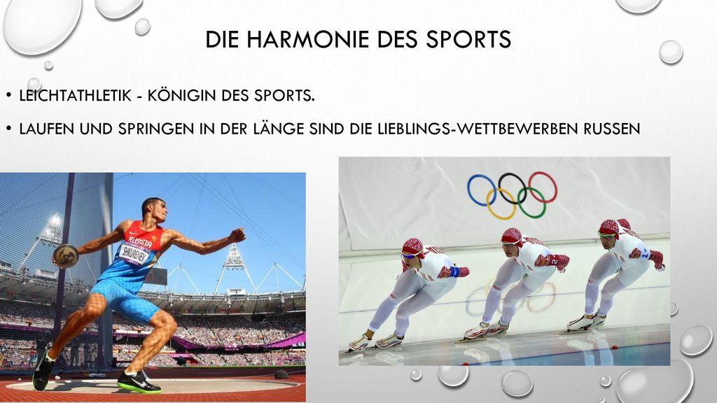 Die Harmonie des Sports