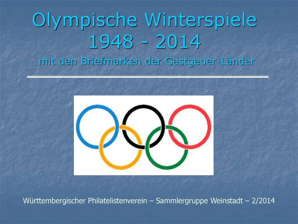 Olympische Winterspiele 1948 - 2014