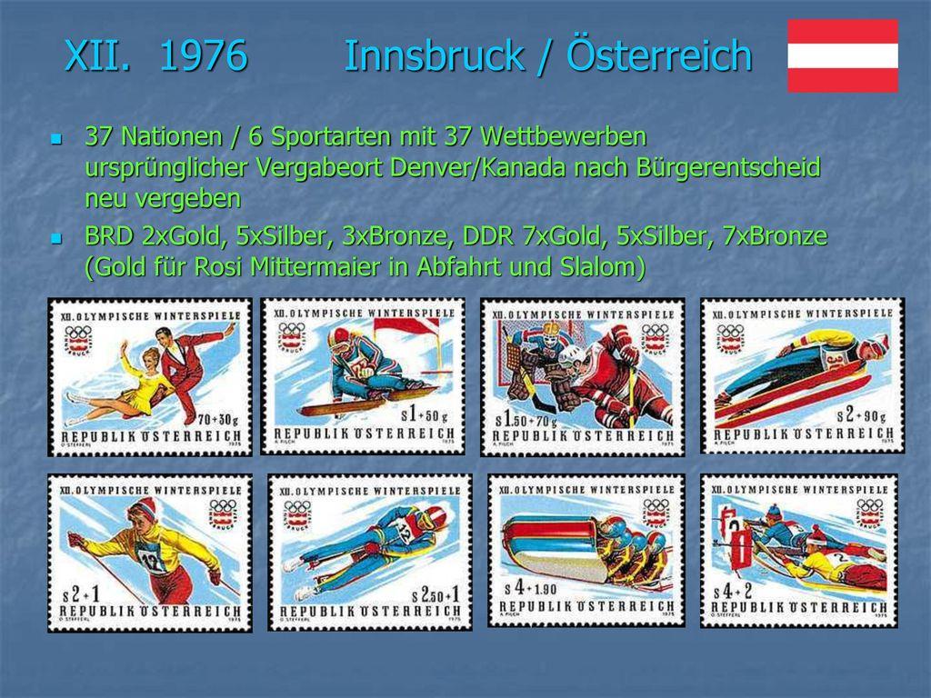 XII. 1976 Innsbruck / Österreich