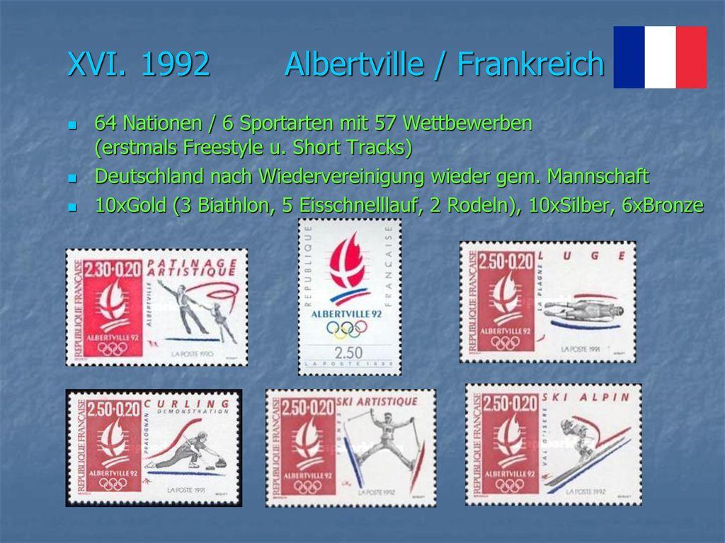 XVI. 1992 Albertville / Frankreich