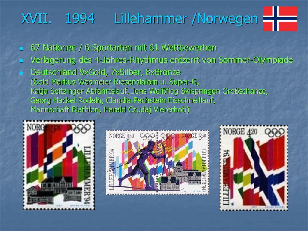 XVII. 1994 Lillehammer /Norwegen