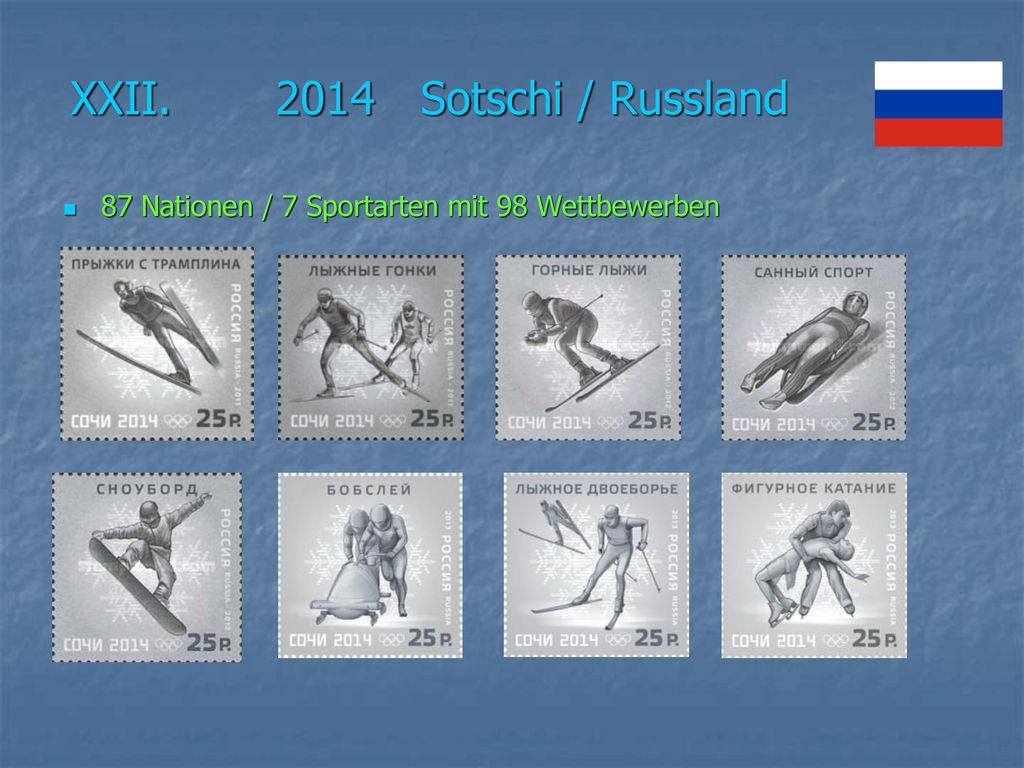 XXII. 2014 Sotschi / Russland