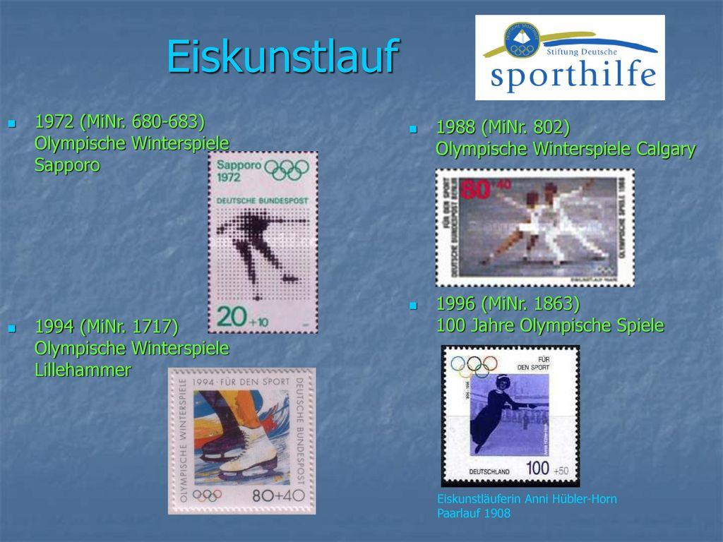 Eiskunstlauf 1972 (MiNr. 680-683) Olympische Winterspiele Sapporo