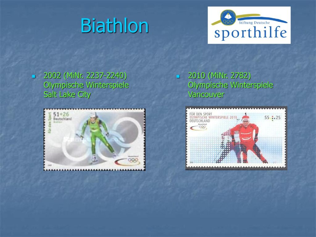 Biathlon 2002 (MiNr ) Olympische Winterspiele Salt Lake City