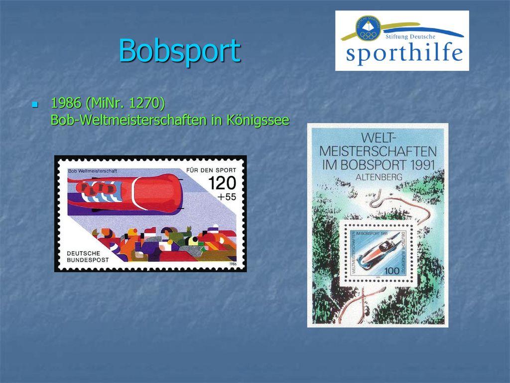 Bobsport 1986 (MiNr. 1270) Bob-Weltmeisterschaften in Königssee