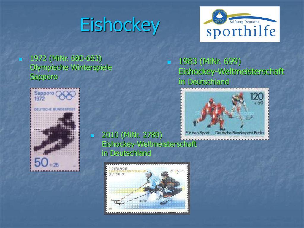 Eishockey 1983 (MiNr. 699) Eishockey-Weltmeisterschaft in Deutschland