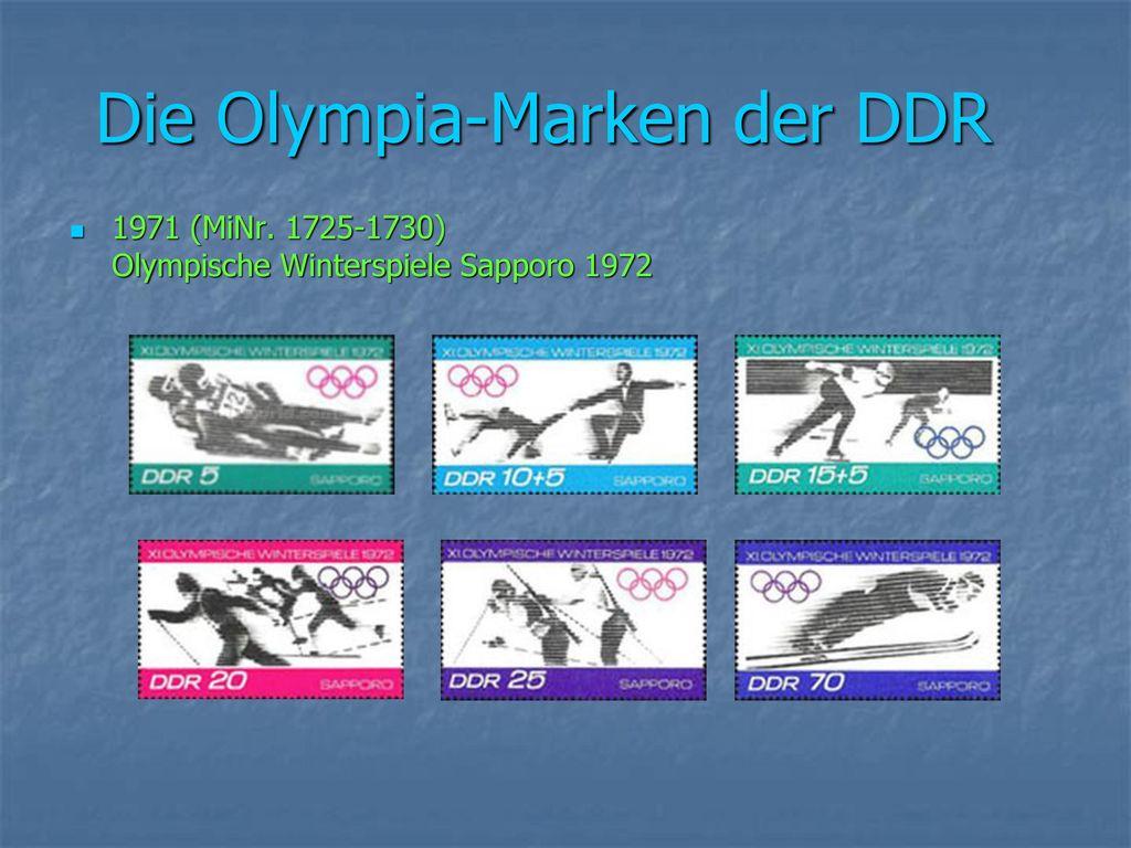 Die Olympia-Marken der DDR