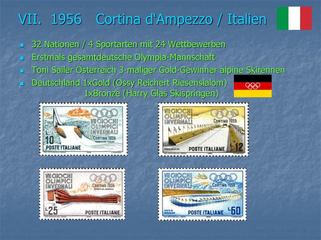 VII. 1956 Cortina d'Ampezzo / Italien