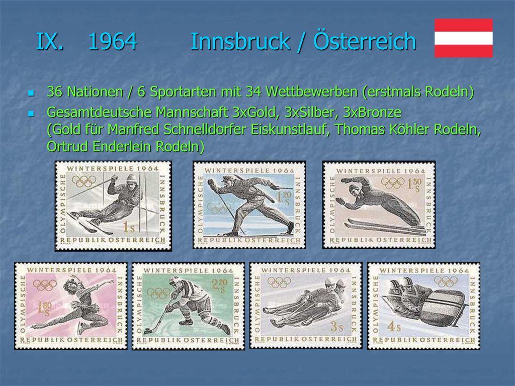 IX. 1964 Innsbruck / Österreich
