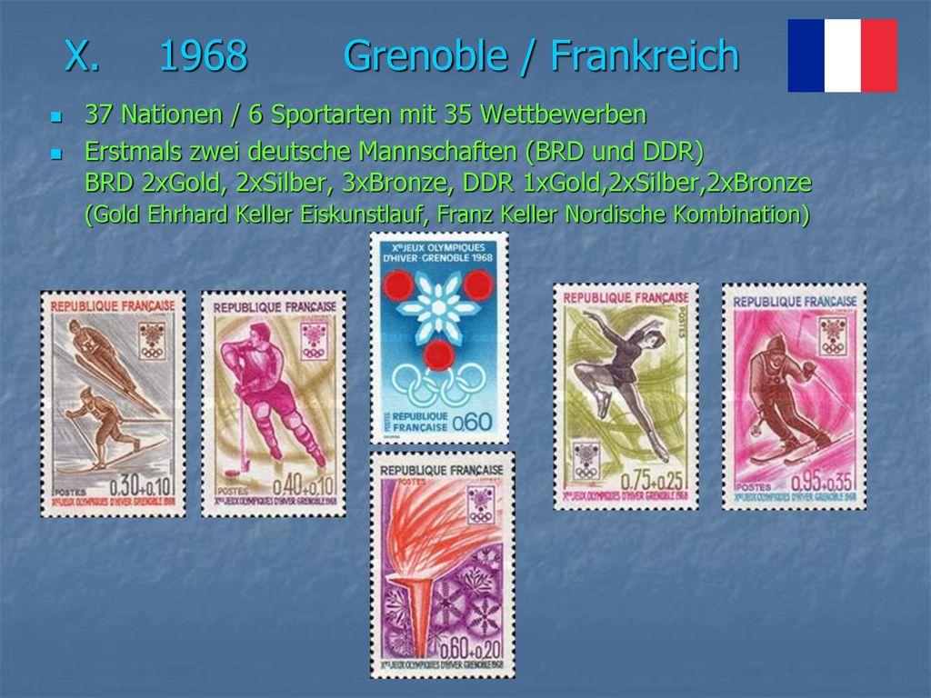 X. 1968 Grenoble / Frankreich