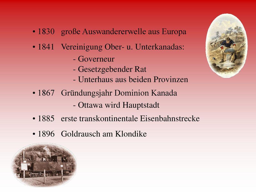 1830 große Auswandererwelle aus Europa