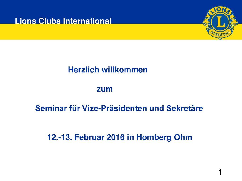 Seminar für Vize-Präsidenten und Sekretäre