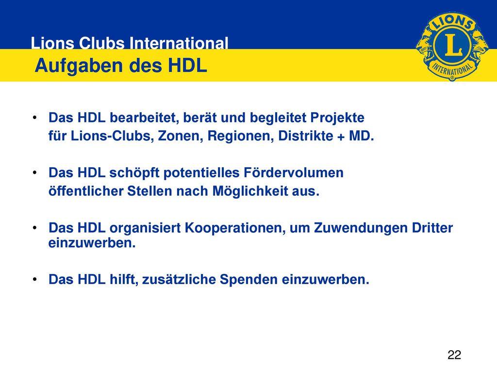 Aufgaben des HDL Das HDL bearbeitet, berät und begleitet Projekte