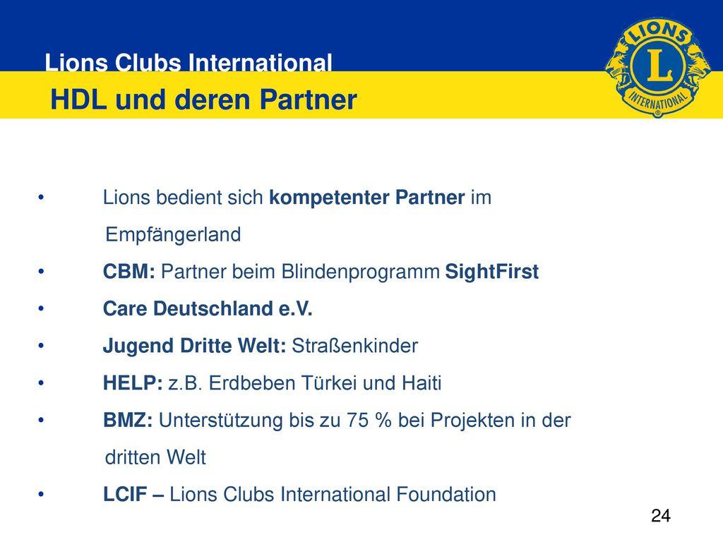 HDL und deren Partner Lions bedient sich kompetenter Partner im