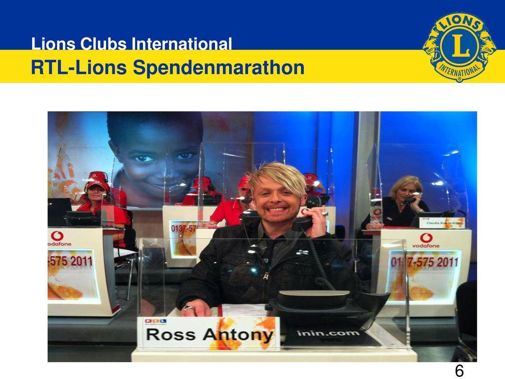 RTL-Lions Spendenmarathon
