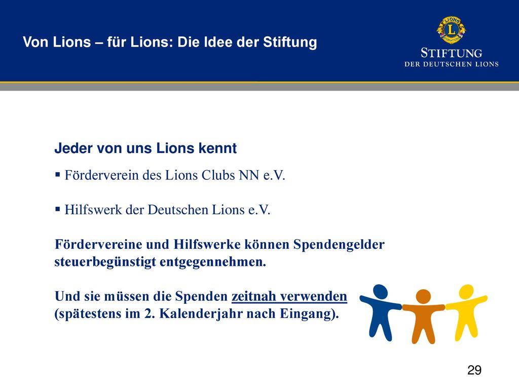 Von Lions – für Lions: Die Idee der Stiftung