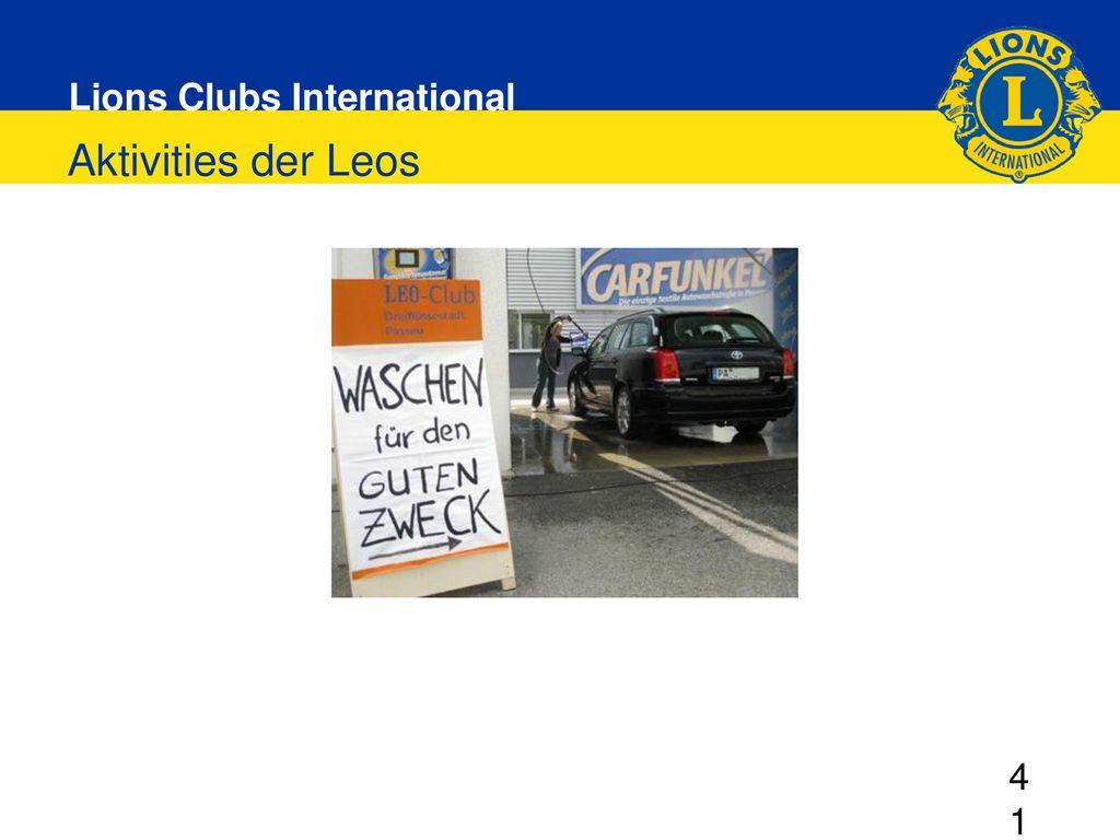 Aktivities der Leos 4141 DG elect 2013/2014 Regina Risken 30.11.2013 Grünberg 41