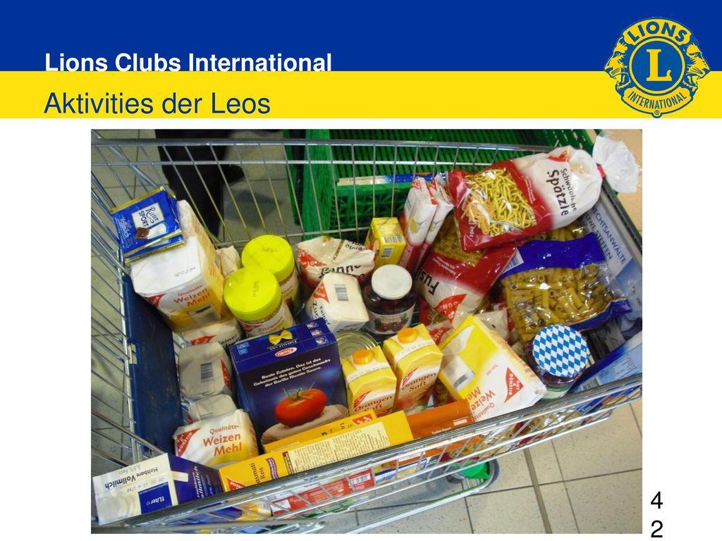 Aktivities der Leos 4242 DG elect 2013/2014 Regina Risken 30.11.2013 Grünberg 42