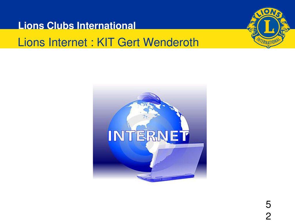 Lions Internet : KIT Gert Wenderoth