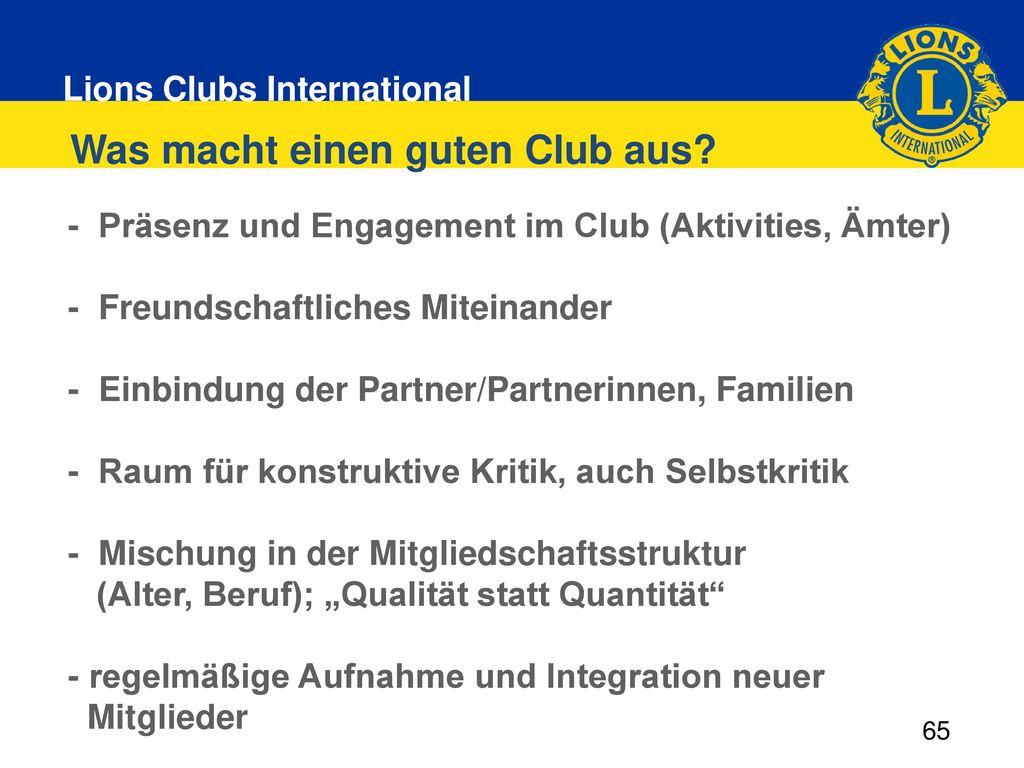 Was macht einen guten Club aus