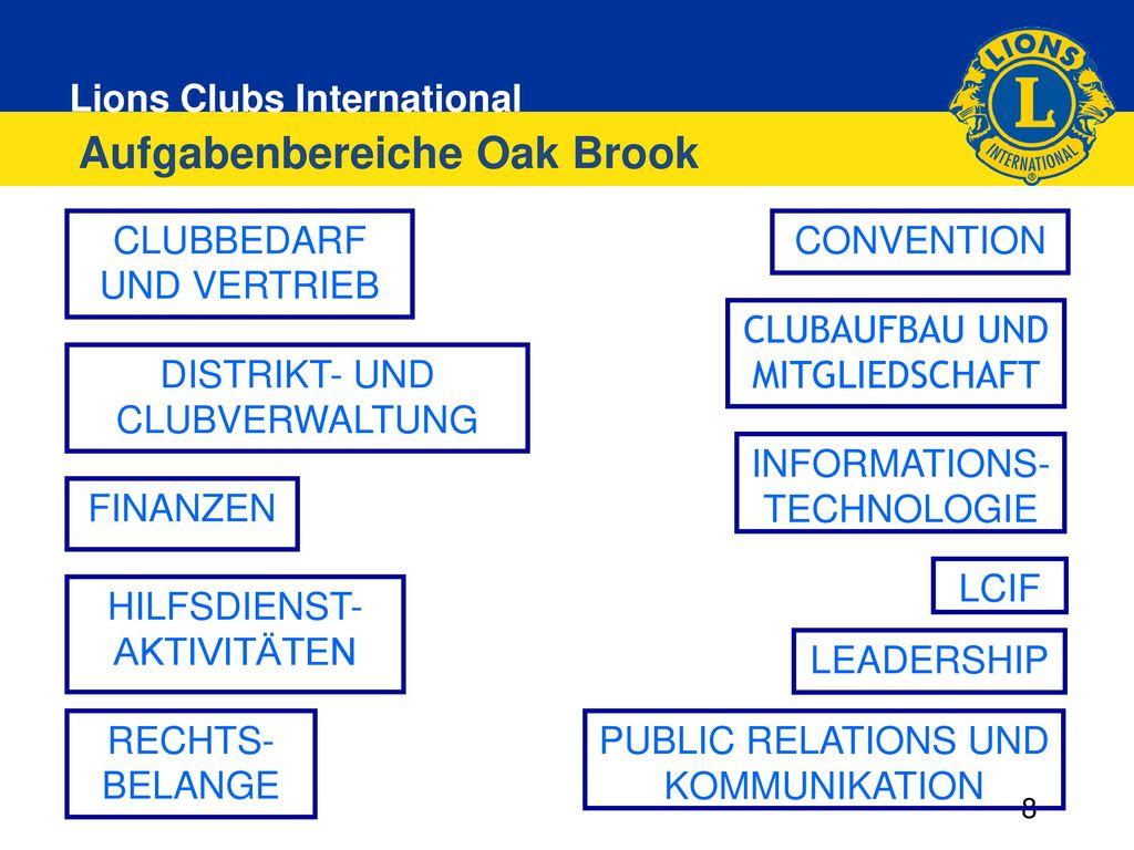 Aufgabenbereiche Oak Brook