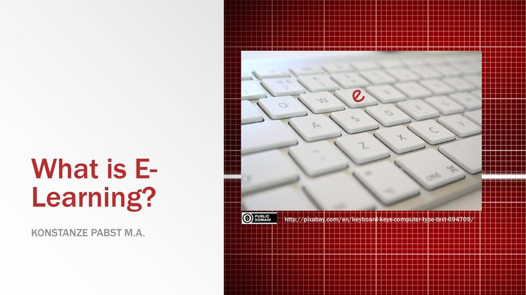 What is E-Learning e Konstanze Pabst M.a.