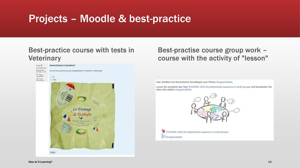 Projects – Moodle & best-practice
