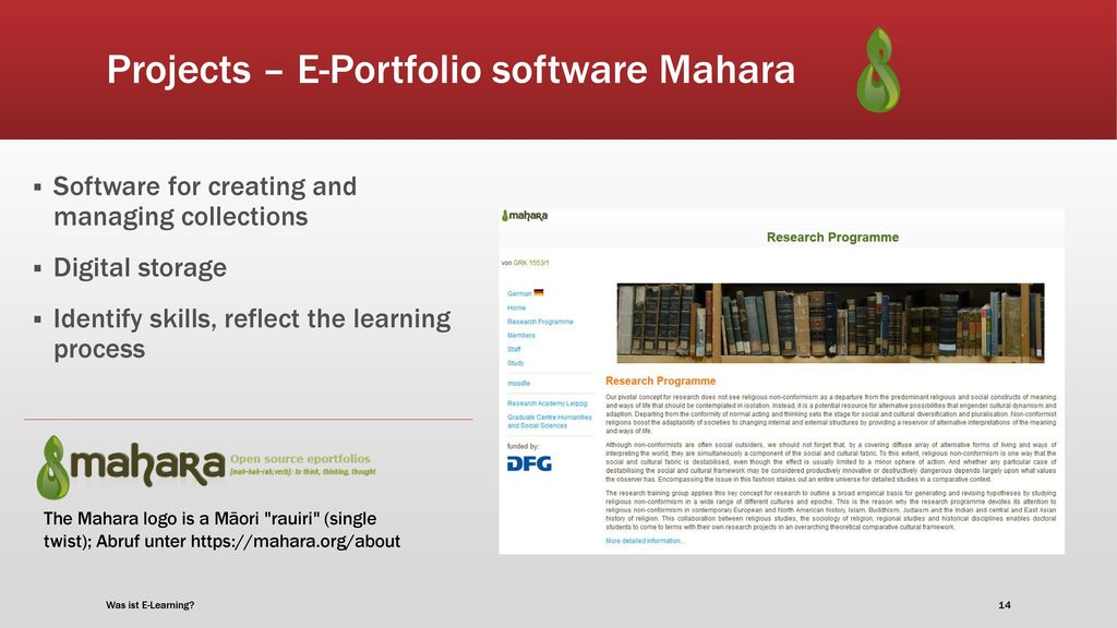 Projects – E-Portfolio software Mahara