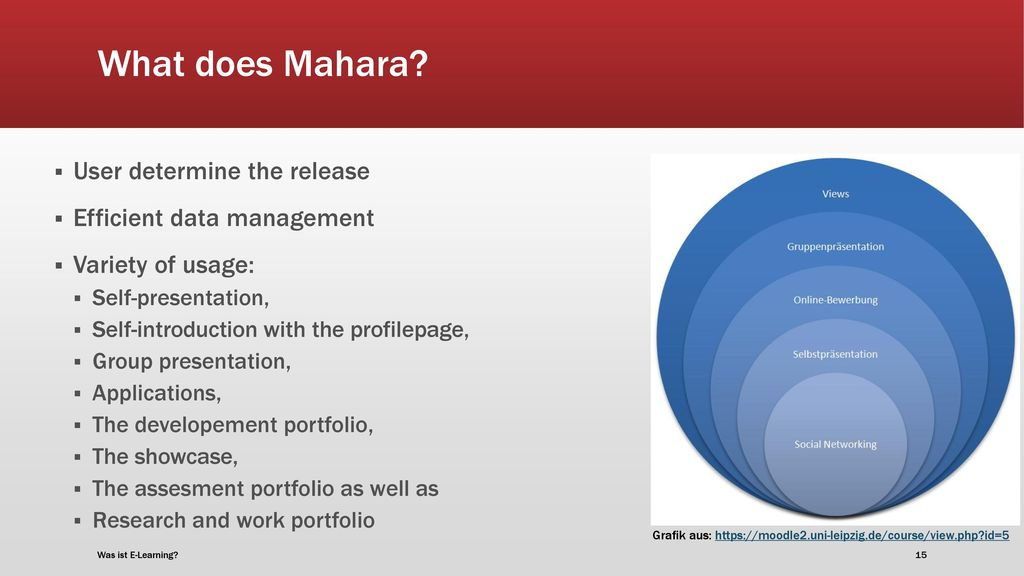 What does Mahara User determine the release Efficient data management