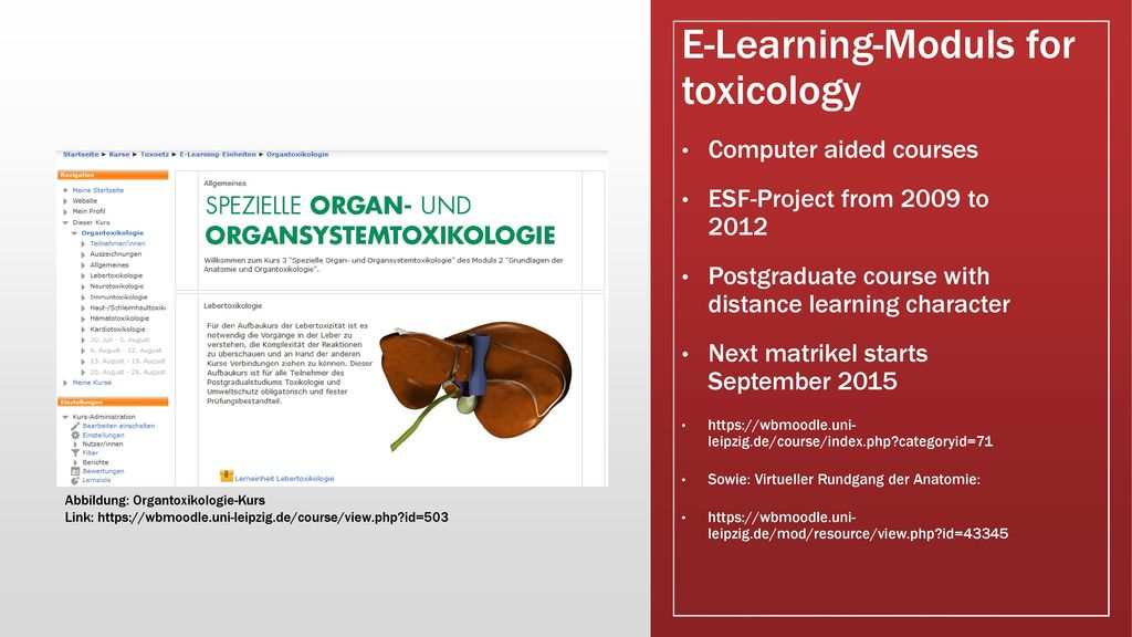 E-Learning-Moduls for toxicology