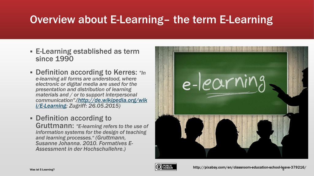 Overview about E-Learning– the term E-Learning