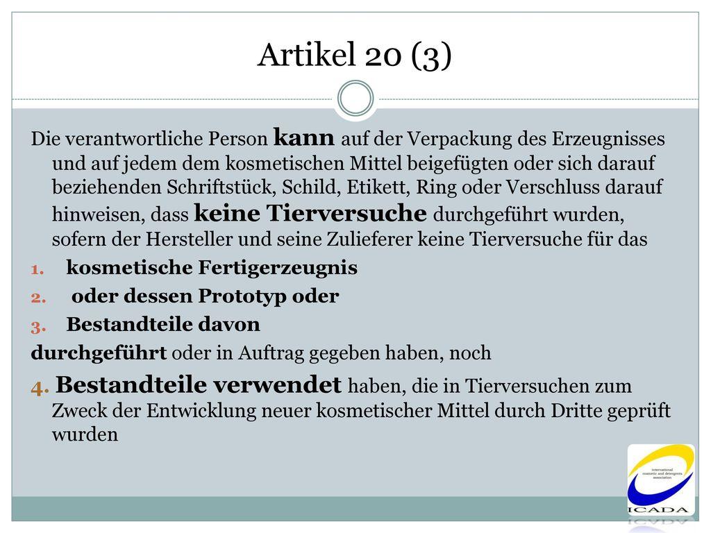 Artikel 20 (3)