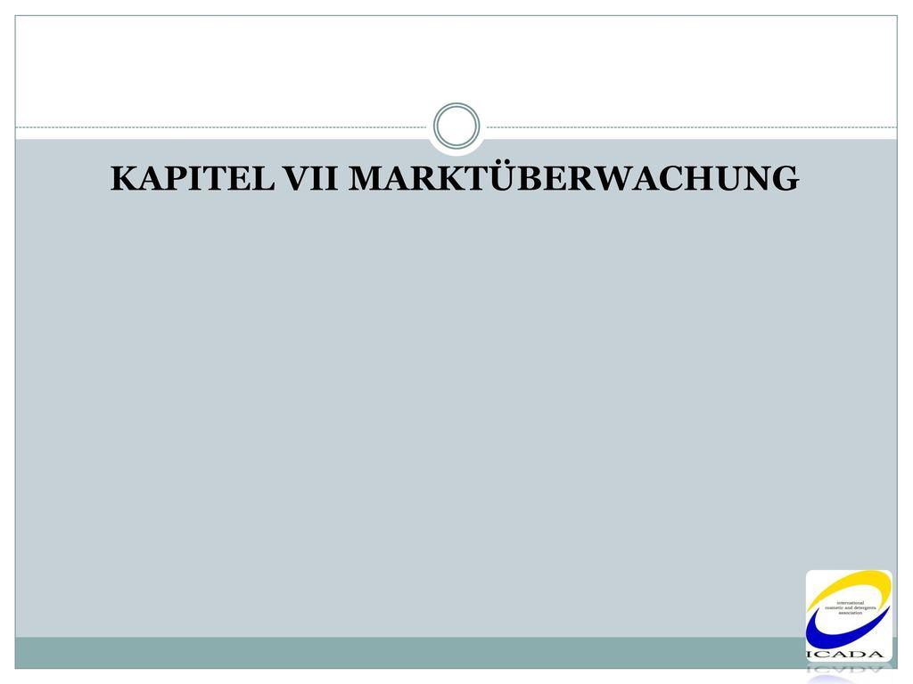 KAPITEL VII MARKTÜBERWACHUNG