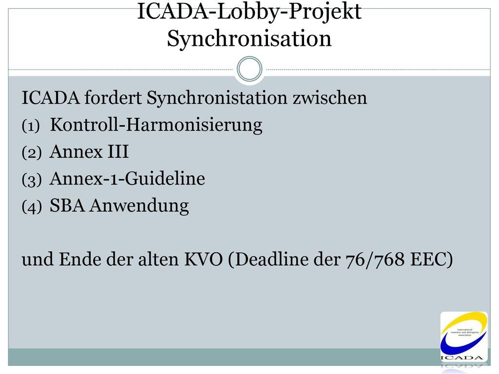 ICADA-Lobby-Projekt Synchronisation