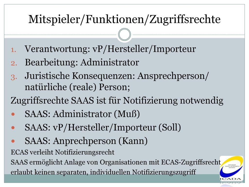 Mitspieler/Funktionen/Zugriffsrechte