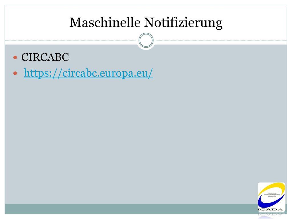 Maschinelle Notifizierung